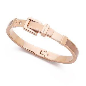 Michael Kors Rose Gold & Pink Buckle Bracelet